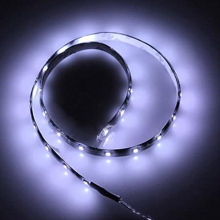 SODIAL(R) 60CM 30 SMD Tira de Luz LED Neon Flexible Impermeable para Coche - Amarillo: Amazon.es: Hogar