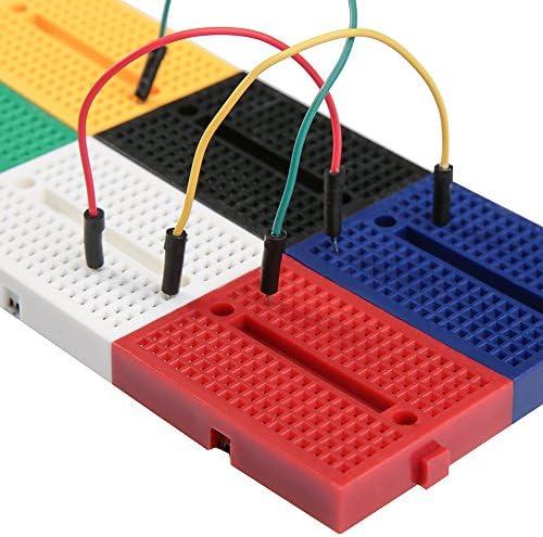 ELEGOO 6stuks 170 verbindingen Mini Breadboard kit voor Arduino Project 6 gekleurde Breadboards Mini voor Electronic Kits UNO R3 MEGA 2560 NANO