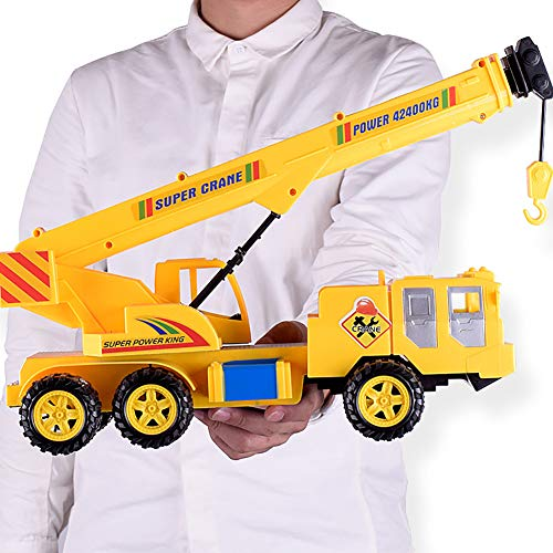 HsgbvictS Classic Toys Children Kids Simulated Engineering Mobile Heavy Lift Crane Truck Model Toy GiftCrane Model, Durable, Kids Toy ()