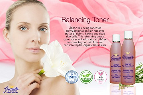 ÄKTA® Herbal Balancing Organic Toner for Oily/Combo Skin 7 oz: Based on Nutrient Rich Organic Aloe- Trace Minerals and Antioxidants Nourish and Protect Skin- Natural Astringents Cleanse and Reduce the Appearance of Pores- Alcohol and Sulfate Free