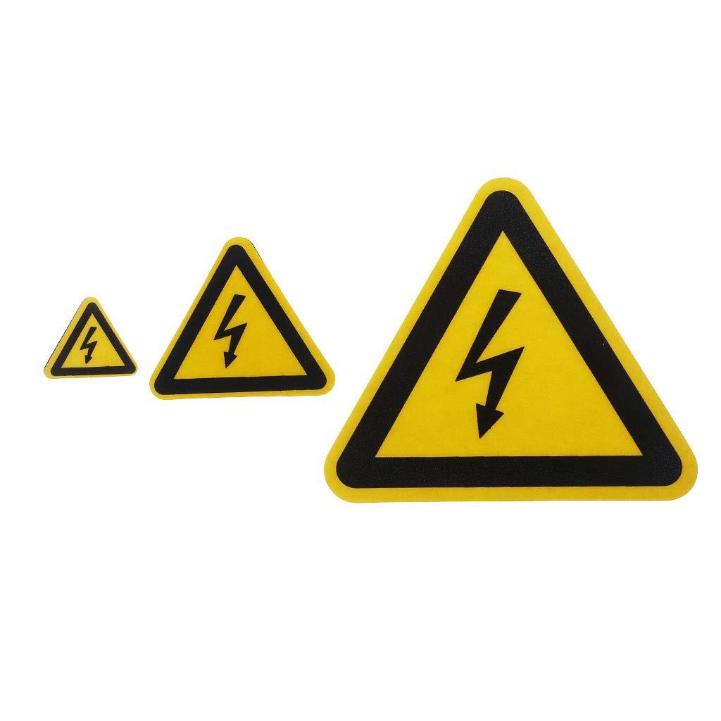 CADANIA /Étiquettes adh/ésives davertissement Danger de Choc /électrique Avis de s/écurit/é S/écurit/é PVC /Étanche A #