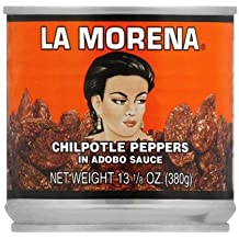 La Morena Chipotle Peppers in Adobo Sauce, 13 Ounce Tins (Pack of 2)
