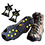 Ice Grip Snow Creepers, iFeng Traction Cleat Snow Grips over Shoe Anti Slip Footwear for Walking, Jogging, Hiking and Mountaineering