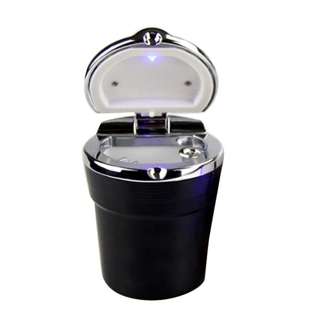 Cendrier portatif anti-fum/ée Winomo pour porte-gobelet de voiture Noir