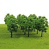 BaoST 20 Pcs Model Trees Train Railroad Model Train Scenery Architecture Trees with No Stands Miniature Landscape Scenery Decor