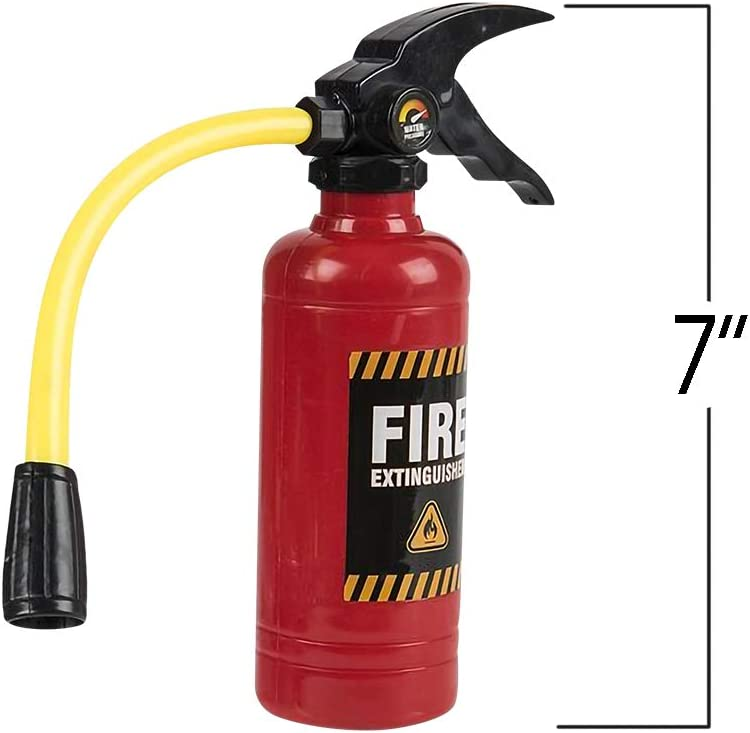 ArtCreativity Mini Fire Extinguisher Squirter Toys Great Fireman Toys for Kids Novelty Gag Gift Item 4.25 Inch Water Extinguisher with Realistic Design Fun Outdoor Summer Toys Set of 3