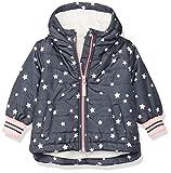 Osh Kosh Baby Girls Midweight Fleece-Lined Jacket, Grey Stars, 12M