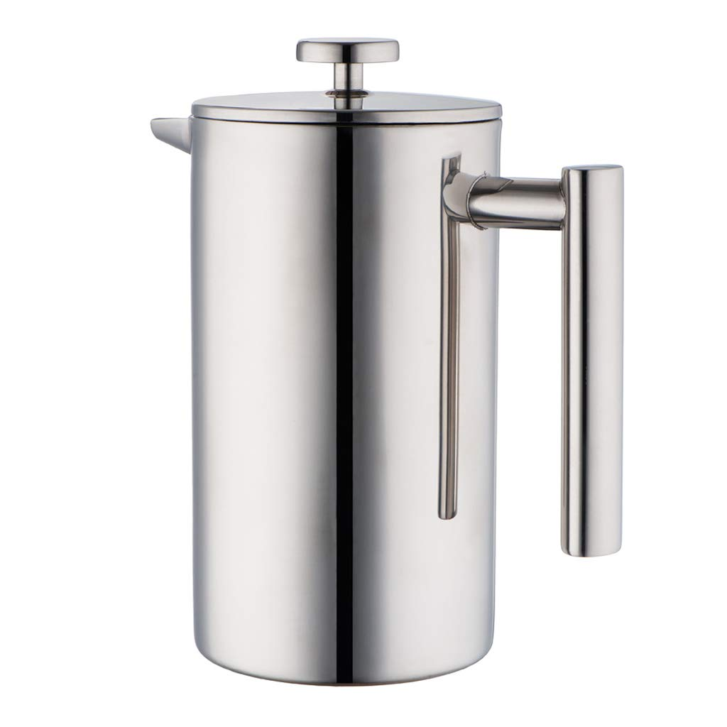 MIRA 34 oz Stainless Steel French Press Coffee Maker with 3 Extra Filters | Double Walled Insulated Coffee & Tea Brewer Pot & Maker | Keeps Brewed Coffee or Tea Hot | 1000 ml by MIRA BRANDS