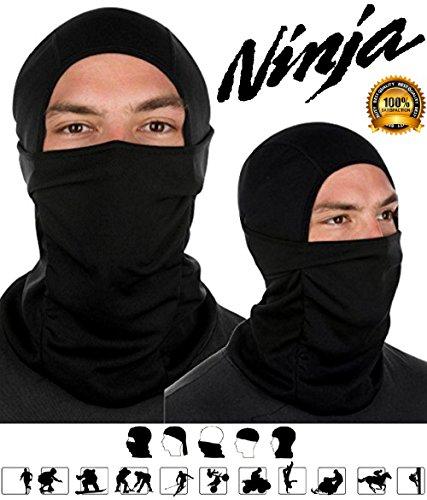 [SPJ: NINJA Tactical Balaclava Head Hood Full Face Black Mask] (Cool Costumes For Halloween 2016)