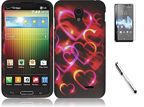 - Bundle Accessory for AT&T Sony Ericsson Xperia TL LT30at - Hard Case Protective Cover + Lf Stylus Pen + Lf Screen Protector (Hard Heart)