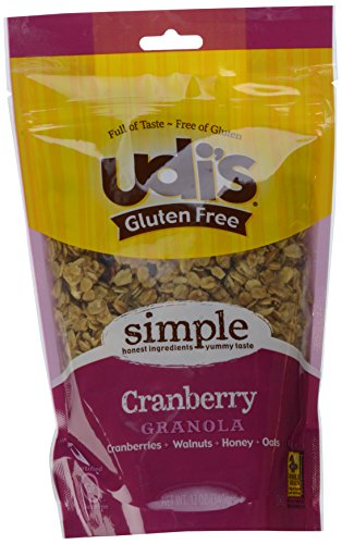 Udi's Gluten Free Granola, Cranberry, 12-Ounce Pouches (Pack of 3)