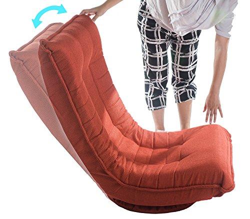 51YOl78ilIL - Merax-360-Degree-Swivel-Folded-Video-Game-Chair-Floor-Lazy-Man-Sofa-Chair-Orange-Red