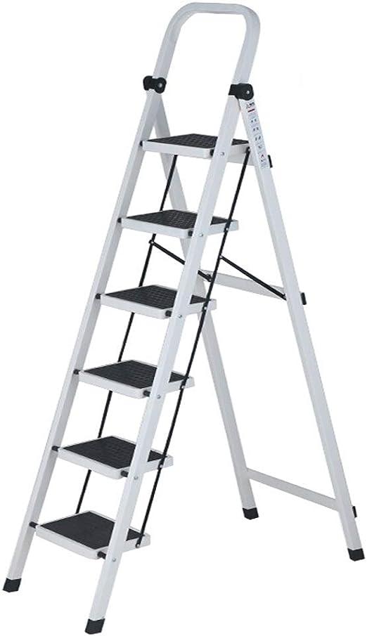 CHQYY Escalera - Escaleras para el hogar Escalera Plegable de ...