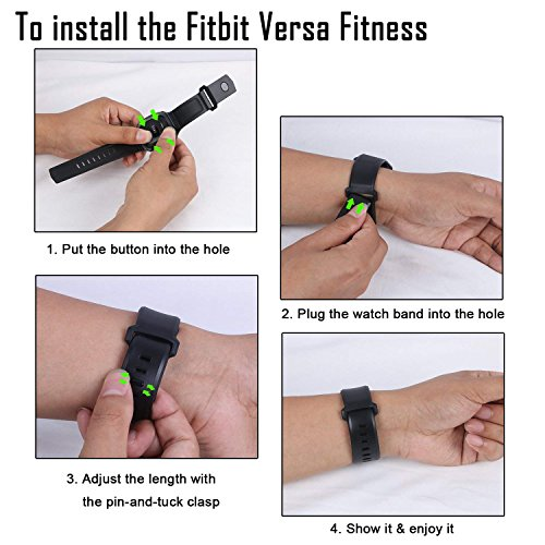 Lwsengme Compatible with Fitbit Versa Band with Bulit-in Case,TPU