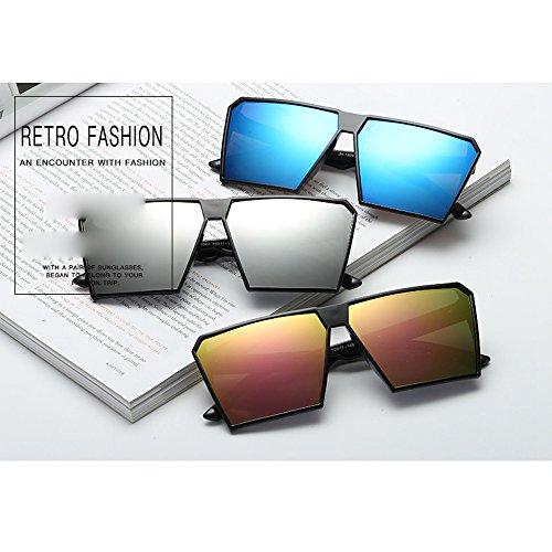polarizadas Retro Vintage calidad renden retro hombre y gafas Matte sol de Gafas Rubber Mode Gafas nerd para Unisex espejo UV400 sol gafas diseño de nbsp;reflectantes alta efecto mujer Espejo 3 for sol de qv0UUYF