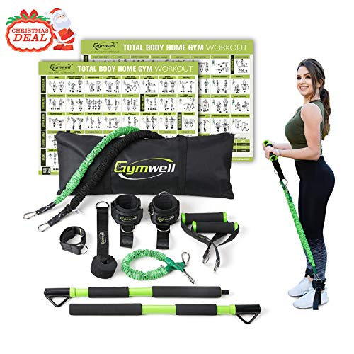 Gymwell Portable Resistance Workout Set, Total Body Workout Equipment for Home, Office or Outdoor with 3 Sets of Resistance Bands