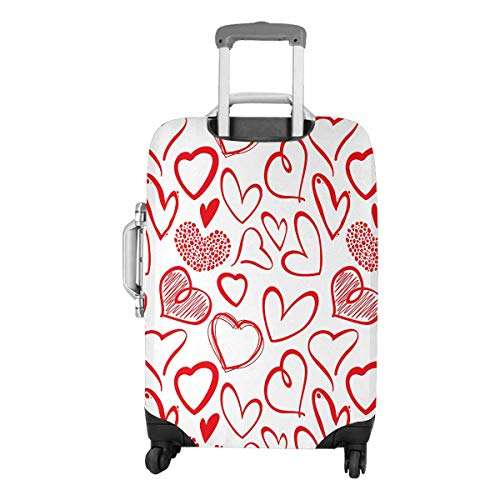 InterestPrint Vintage Valentine Love Heart Travel Luggage Protector Baggage Suitcase Cover Fits 22''-25'' Luggage by InterestPrint (Image #3)