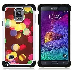 For Samsung Galaxy Note 4 SM-N910 N910 - vivid colors night city blur yellow Dual Layer caso de Shell HUELGA Impacto pata de cabra con im??genes gr??ficas Steam - Funny Shop -