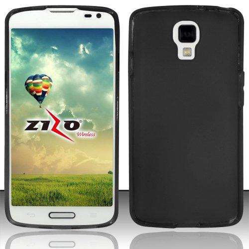 Black Flexible TPU Slim Fit Gel Skin Cover Case + ATOM LED Keychain Light for LG Volt LS740 (Boost Mobile, Virgin Mobile) (Virgin Mobile Phone Case Lg Volt)