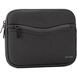 iPad Mini 4 sleeve, Evecase Smile Padded Neoprene Zipper Carrying Sleeve Case Bag with Front Accessory Pocket for iPad Mini 4, 3, 2 / Android 7 - 8 inch Tablet Device - Black