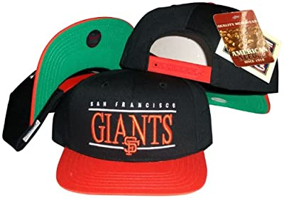 San Francisco Giants Black/Orange Two Tone Snapback Adjustable Plastic Snap Back Hat/Cap