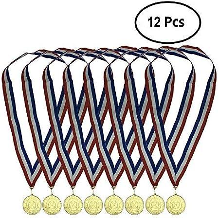 Durabol 12 Medalla Deportiva Metal con Cinta (Trofeo, 5)