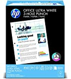 HP Paper, Office Ultra White, 20lb, 8.5 x 11, 3 Hole Punch , 92 Bright, 500 Sheets / 1 Ream (113102R), Made In The USA