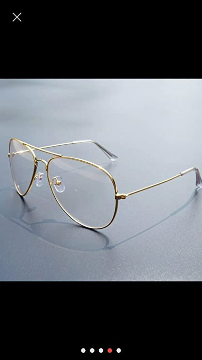 9c919eb7f97 Ikevan 2017 Fashion Retro Men Women Clear Lens Glasses Metal Spectacle  Frame Myopia Eyeglasses Lunette Fe (Gold)