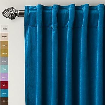 Amazon Com Jovi Home Velvet Window Curtain 52 By 96 Inch