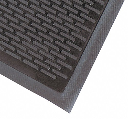 NoTrax Soil Guard Rubber Floor Mat - 3ft. x 5ft, Model# 340S0035BL