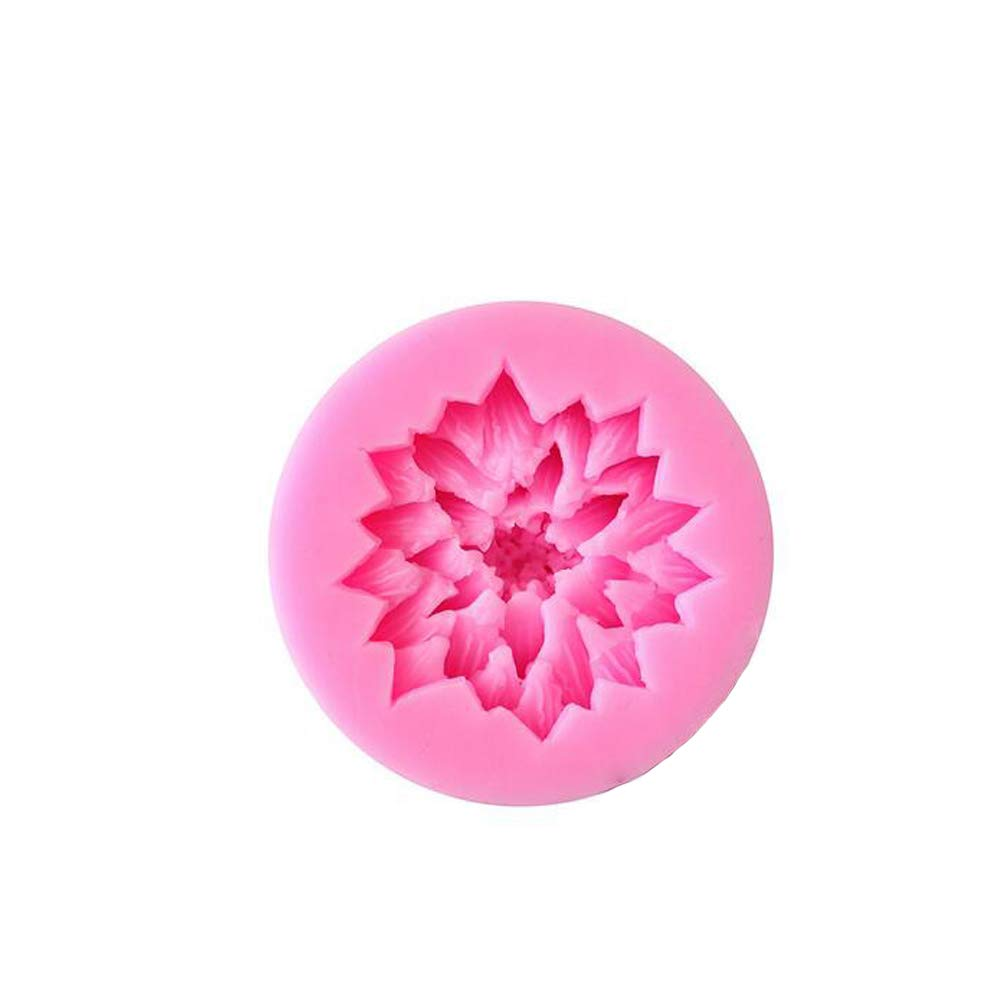 Lotus Flower Shape 3D Silicone Fondant Mold Mould Chocolate Candy Cake Decoration Baking Tool