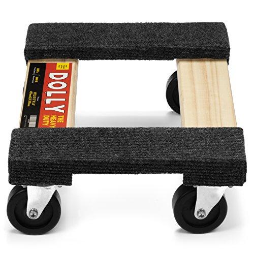 Heavy Duty Moving Dolly 660LB Maximum 1000LB Capacity Soft Carpeted Moving Dolly 18\'\' x 12\'\' x 5.5\'\' 660LB