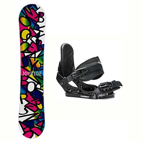 Girls Snowboard Binding - Joyride Letters Black Solstice Girls Snowboard and Binding Package - 135cm/Small