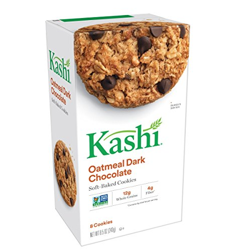 Kashi Soft-Baked Cookies, Oatmeal Dark Chocolate, Non-GMO Project Verified, 8.5 oz, 8 Count(Pack of 3) (Oatmeal Chocolate Chip Chewy)