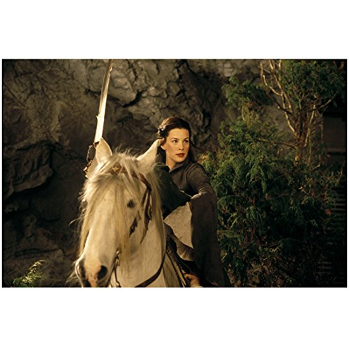 The Lord of the Rings: The Return of the King 8x10 Photo Liv Tyler Holding Sword in Air on White Horse ()