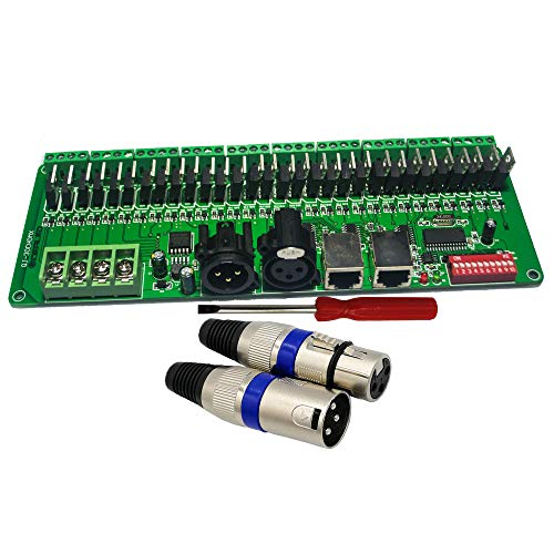 GIDERWEL DMX Decoder PWM DMX512 Dimmer Driver RGB Strip Controller Input DC12V-24V (PCBA 30 ()