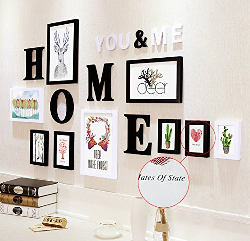 Buy wollwoll home word deer floral theme large wall decoration photo frame set 155 cm x 1 6 cm x 83 cm multicolour online at low prices in india