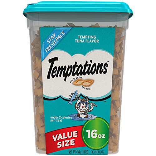 Temptations Classic Treats for Cats Tempting Tuna Flavor 16 Ounces; With Our Mouthwatering Menu We Have a Flavor For Every Feline