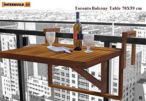 Interbuild Toronto Balcony/ Deck Table 28'' x 24'', Foldable, for ()