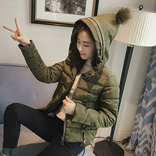 Coat Verde Lady Donna Puffer Pure Coreano Da Militare Colour Short Down Outwear Bigood zqwPHxCq