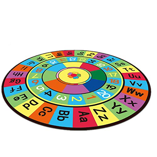 Maize store Cartoon Round Carpet Letter Baby Play Mats Crawling Pad Kids Game Toys Children Developing Rug 120Cm