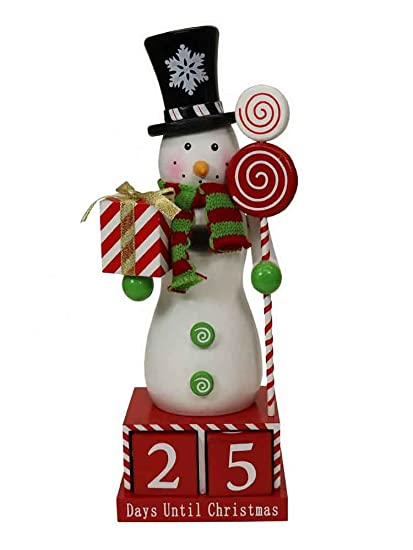 How Many Days Til Christmas.Amazon Com Snowman Countdown To Christmas Nutcracker 14711