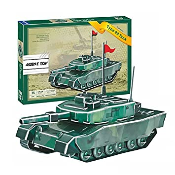 4c879484087e Buy Agent Toy Japan Ground Self-Defense Force Battle Type 90 Tank 3D Jigsaw  Puzzle DIY Military Army Brain Teaser Kids Family Fun