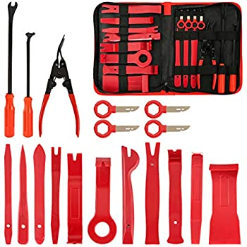 Kohree 32PCS Car Trim Removal Tool Auto Door Panel Removal Tool Set with Clip Plier Set /& Upholstery Fastener Remover for Dash Audio Radio Door Removal Installation and Remover Strong Nylon Pry Tool Kit