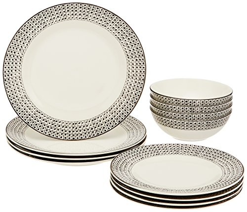 Lenox Around the Table Dot 12 Piece Set, White