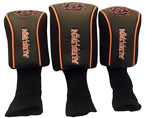 Auburn NCAA Long Neck Golf Headcover 3 (Oversized 3 Pack Golf Headcovers)