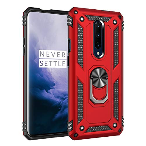 Price comparison product image DAMONDY for OnePlus 7 Pro Case, 360 Degree Rotating Ring Armor Dual Layer Ring Kickstand Shockproof Drop Protection Compatible Magnetic Car Mount case Holder for OnePlus 7 Pro-red