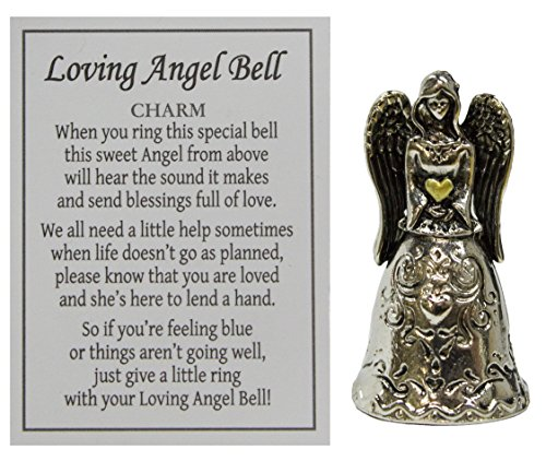 Loving Guardian Angel Bell Inspirational Pocket Charm With Story Card