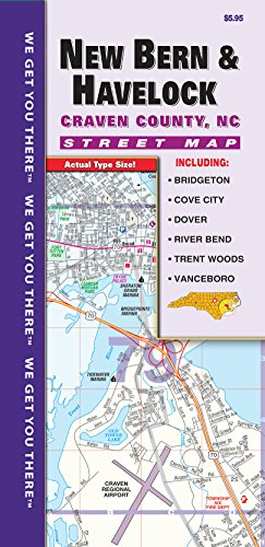 Maps County Nc Road - New Bern/Craven County NC Fold Map