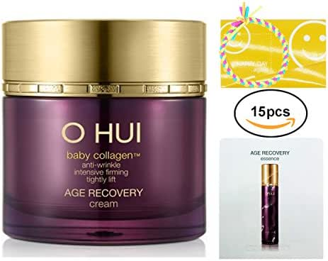 OHUI Age Recovery Anti-Wrinkle Facial Cream 50ml/1.6oz + Gift 3pcs travel kit